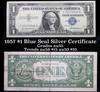 1957 $1 Blue Seal Silver Certificate Grades Choice AU