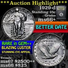 1929-d Standing Liberty Quarter 25c Graded GEM++