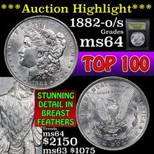 1882-o/s Morgan Dollar $1 Graded Choice Unc by USC