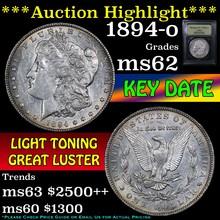 1894-o Morgan Dollar $1 Graded Select Unc by USCG