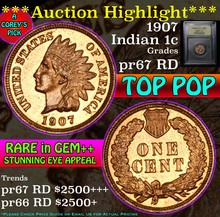 1907 Indian Cent 1c Graded pr67 RD by USCG (fc)