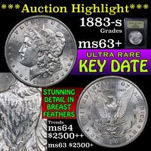 1883-s Morgan Dollar $1 Graded Select+ Unc by USCG