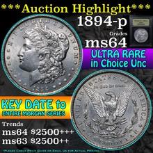 1894-p Morgan Dollar $1 Graded Choice Unc by USCG