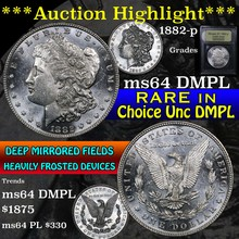1882-p Morgan Dollar $1 Graded Choice Unc DMPL by
