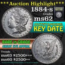 1884-s Morgan Dollar $1 Graded Select Unc by USCG