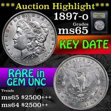 1897-o Morgan Dollar $1 Graded GEM Unc by USCG (fc