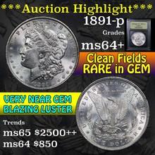 1891-p Morgan Dollar $1 Graded Choice+ Unc by USCG