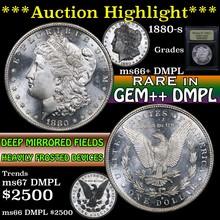 1880-s Morgan Dollar $1 Graded GEM++ DMPL by USCG