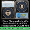 2014-s Shenadoah Proof America the Beautiful Quarter 25c Graded pr70 DCAM by ANACS