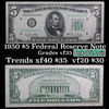 1950 $5 Green Seal Federal Reserve Note St. Louis Grades vf++