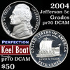 2004-s Keel Boat Jefferson Nickel 5c Grades GEM++ Proof Deep Cameo