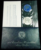 """1974-s Silver Unc Eisenhower Dollar in Original Packaging with COA  """"Blue Ike"""""""