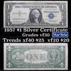 **Star Note  1957 $1 Blue Seal Silver Certificate Grades vf++