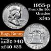 1955-p Bugs Bunny Franklin Half Dollar 50c Grades xf+