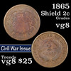 1865 Two Cent Piece 2c Grades vg, very good