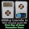 NGC 2009-p Formative Years Lincoln Cent 1c Graded ms66 RD By NGC
