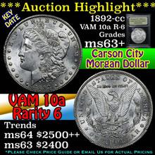 1892-cc. VAM 10A R-6 Morgan Dollar $1 Graded