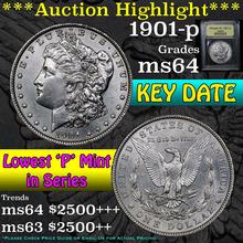 1901-p Morgan Dollar $1 Graded Choice Unc By USCG