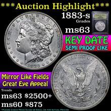 1883-s Morgan Dollar $1 Graded Select Unc by USCG