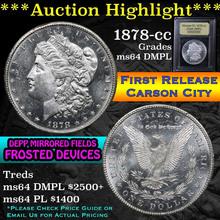 1878-cc Morgan Dollar $1 Graded Choice Unc DMPL