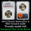 NGC 2007-P GEORGE WASHINGTON Presidential Dollar $1 Graded ms60 by NGC