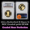 NGC 2011-s Rutherford Hayes Presidential Dollar $1 Graded Gem++ Proof Deep Cameo By NGC