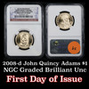 NGC 2008-d John Quincy Adams Presidential Dollar $1 Graded Gem By NGC