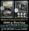 1996-P Olympics Rowing Modern Commem Dollar GEM++ Proof Deep Cameo by USCG
