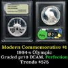 1984-S Olympic Modern Commem Dollar $1 Graded GEM++ Proof Deep Cameo by USCG