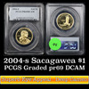 PCGS 2004-s Sacagawea Golden Dollar $1 Graded pr69 dcam By PCGS
