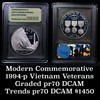 1994-P Vietnam Modern Commem Dollar $1 Graded GEM++ Proof Deep Cameo by USCG