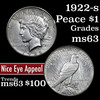 1922-s Peace Dollar $1 Grades Select Unc