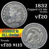 1832 Capped Bust Half Dime 1/2 10c Grades vf, very fine