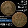 1802 Draped Bust Large Cent 1c Grades vg, very good