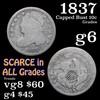 1837 Capped Bust Dime 10c Grades g+
