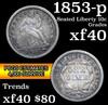 1853-p Seated Liberty Dime 10c Grades xf