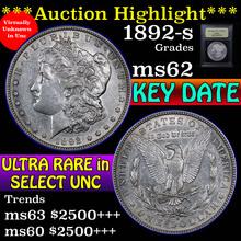 1892-s Morgan Dollar $1 Graded Select Unc by USCG