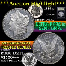 1886-p Morgan Dollar $1 Graded GEM+ DMPL by USCG