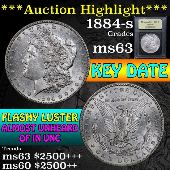 ***Auction Highlight*** 1884-s Morgan Dollar $1 Graded Select Unc by USCG (fc)