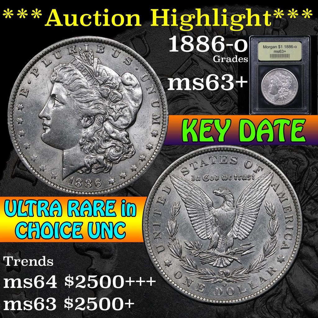***Auction Highlight*** 1886-o Morgan Dollar $1 Graded Select+ Unc by USCG (fc)