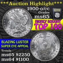 1900-o/cc Top 100 Morgan Dollar $1 Graded GEM Unc