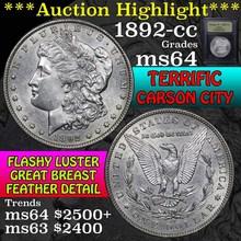 1892-cc Morgan Dollar $1 Graded Choice Unc by USCG