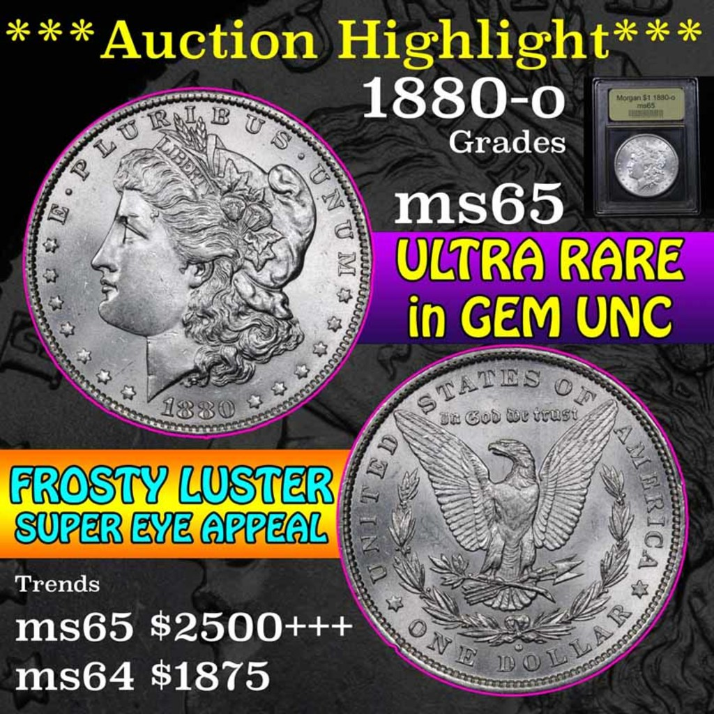 ***Auction Highlight*** 1880-o Morgan Dollar $1 Graded GEM Unc by USCG (fc)