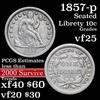 1857-p Seated Liberty Dime 10c Grades vf+