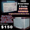 Original Sealed mailer box 1980 proof sets, 5 packs never opened