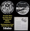 The Fifty State Bicentennial Medal Collection - Idaho Sterling Silver .925 Round 1 oz. Proof