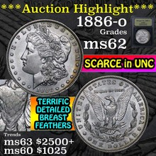 ***Auction Highlight*** 1886-o Morgan Dollar $1
