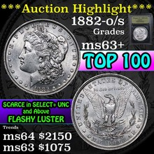 ***Auction Highlight*** 1882-o/s Morgan Dollar $1