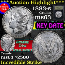***Auction Highlight*** 1883-s Morgan Dollar $1