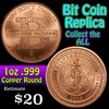 Bit Coin 1 oz .999  Copper Round